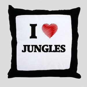 I Love Jungles Throw Pillow