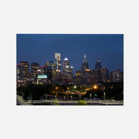 Philly skyline from Schuylkill Banks board Magnets