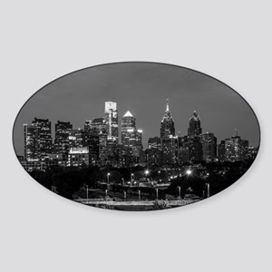 Philly skyline from Schuylkill Banks board Sticker