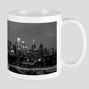 Philly skyline from Schuylkill Banks boardwal Mugs