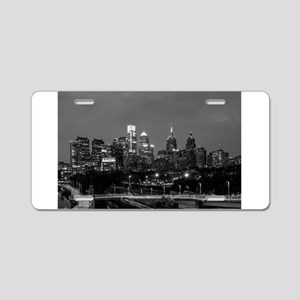 Philly skyline from Schuylk Aluminum License Plate