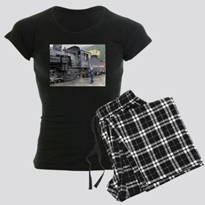 Steam train engine, Colorado Women's Dark Pajamas