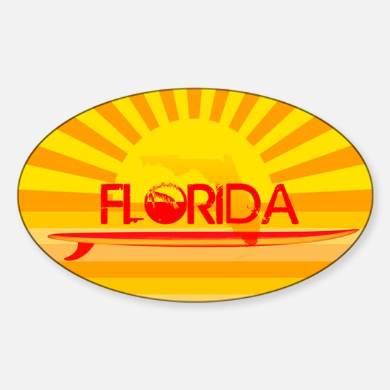 Florida Orange Sunset Decal