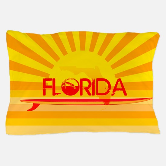 Florida Orange Sunset Pillow Case