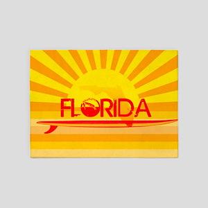 Florida Orange Sunset 5'x7'Area Rug