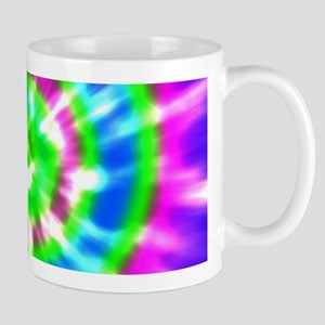 Retro Tie Dye Purple, Aqua, Green Mug