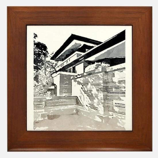 Robie House Framed Tile