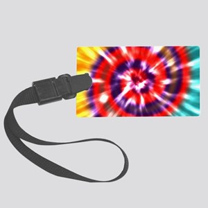 Tie Dye - Red, Blue, Yellow, Tea Large Luggage Tag
