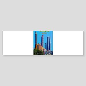 Atlantic City Skyline Bumper Sticker