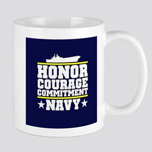 Honor Courage Commitment US Navy Mugs