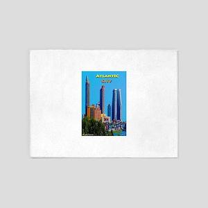 Atlantic City Skyline 5'x7'Area Rug