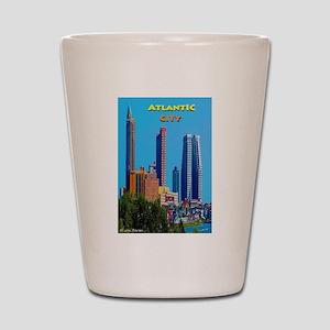 Atlantic City Skyline Shot Glass