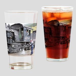 Steam train engine, Colorado 11 Drinking Glass