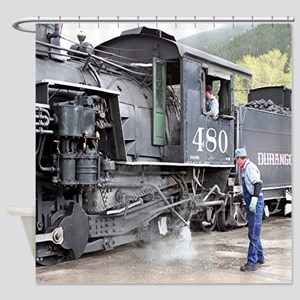Steam train engine, Colorado 11 Shower Curtain