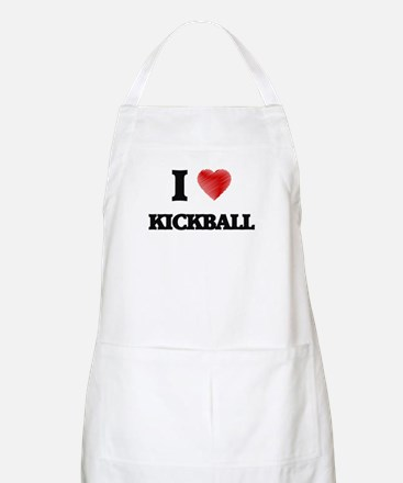 I Love Kickball Apron