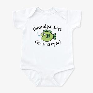 Grandpa Says I'm a Keeper Infant Bodysuit