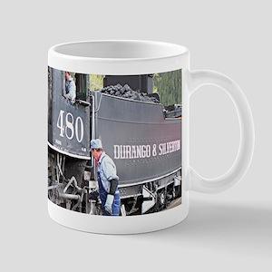 Steam train engine, Colorado 11 Mugs