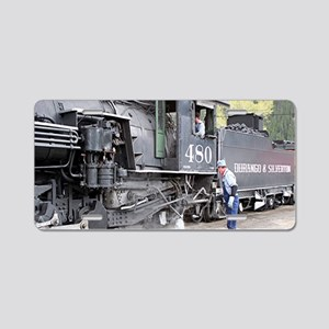 Steam train engine, Colorad Aluminum License Plate