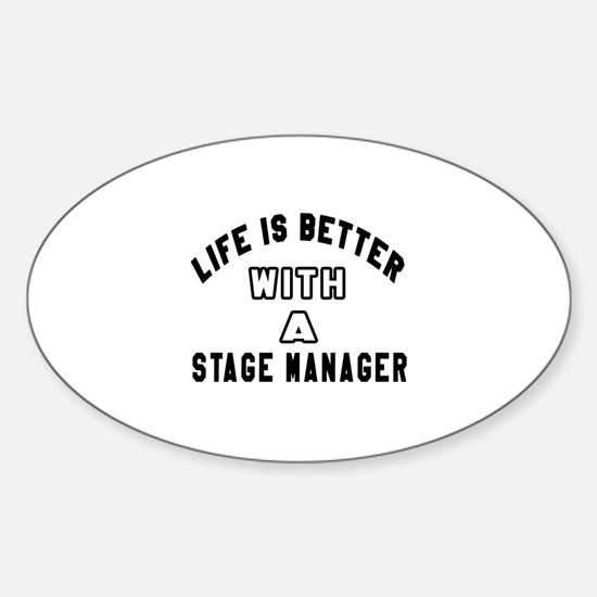 Stage Manager Designs Sticker (Oval)