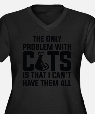 Cats...I can't have them all ): Plus Size T-Shirt