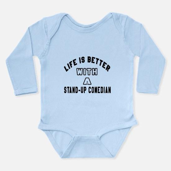 Stand-Up Comedian Desi Long Sleeve Infant Bodysuit