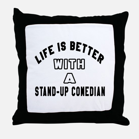 Stand-Up Comedian Designs Throw Pillow