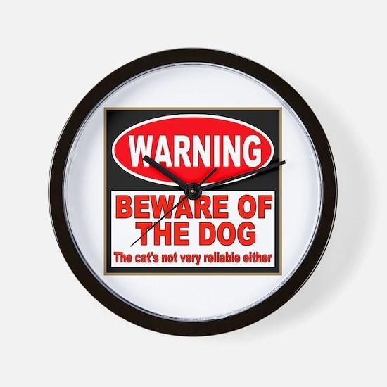 Beware of the Dog Wall Clock