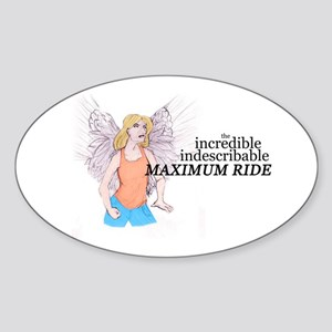 Incredible Indescribable Max Oval Sticker