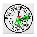 USS Greenwich Bay (AVP 41) Tile Coaster