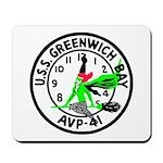 USS Greenwich Bay (AVP 41) Mousepad