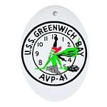 USS Greenwich Bay (AVP 41) Oval Ornament