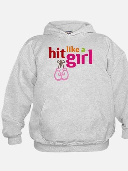 HitLikeAGirl_BlackTee Sweatshirt