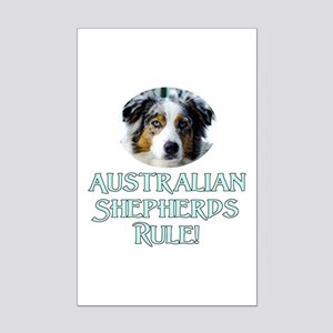 Australian Shepherds Rule Mini Poster Print