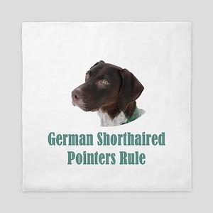 German Shorthaired Pointers Rule Queen Duvet