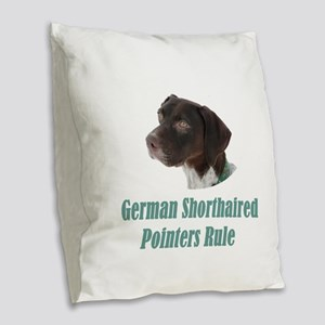 German Shorthaired Pointers Ru Burlap Throw Pillow