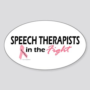 Speech Therapists In The Fight Oval Sticker
