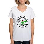 USS Greenwich Bay (AVP 41) Women's V-Neck T-Shirt