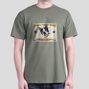 Vintage Boston Terrier Cigars Dark T-Shirt