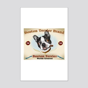 Vintage Boston Terrier Cigars Mini Poster Print