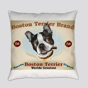 Vintage Boston Terrier Cigars Everyday Pillow