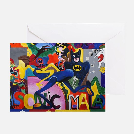Cute Superheroes Greeting Card