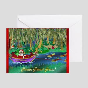 Cajun christmas greeting cards cafepress cajun santa 3 greeting cards m4hsunfo