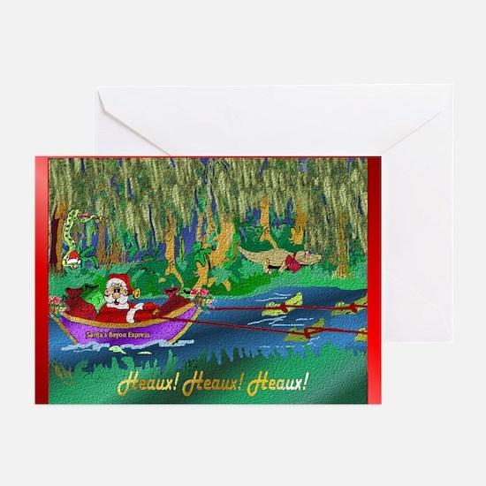 Cajun Santa 3 Greeting Cards