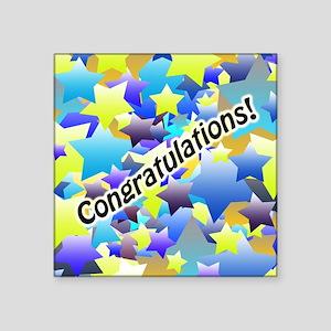 Congratulation Stars Sticker