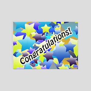 Congratulation Stars 5'x7'Area Rug