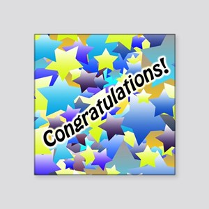 Congratulation Stars Sticker