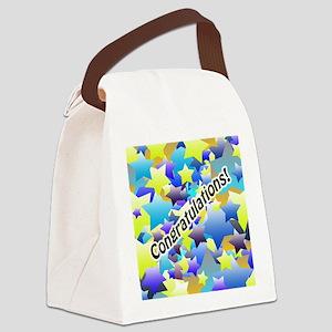 Congratulation Stars Canvas Lunch Bag