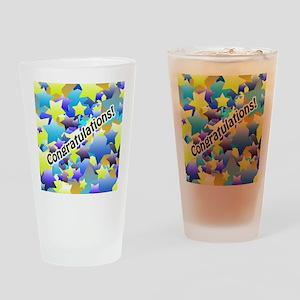 Congratulation Stars Drinking Glass
