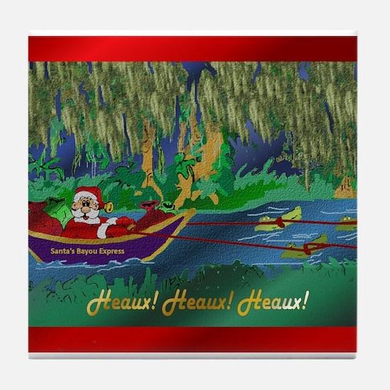 Cajun Santa 6 Tile Coaster