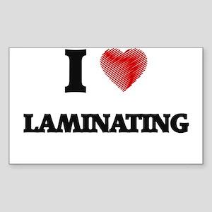 I Love Laminating Sticker